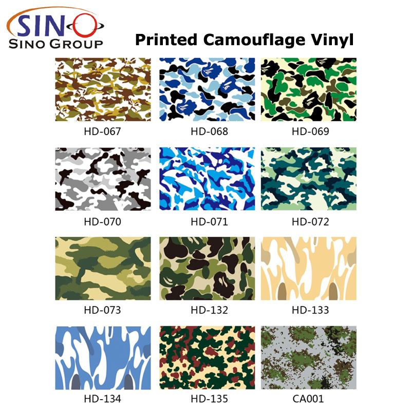 CARLIKE CL-CA Vinili camouflage stampati a più colori