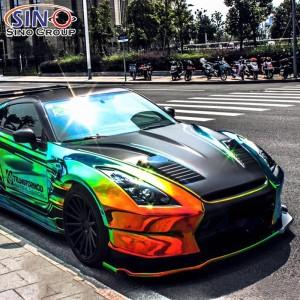 CL-CR Adesivo in vinile per auto a forma di arcobaleno, veicolo arcobaleno