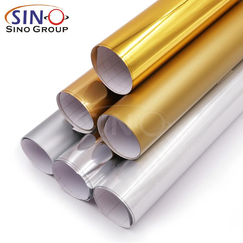 Pellicola vinilica per il taglio di colore in oro placcato in PVC placcato oro PET in PVC